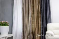 Image result for charcoal silk curtains for living room Silver Curtains, Charcoal, Silk, Living Room, Image, Home Decor, Curtains, Decoration Home, Room Decor