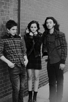 Logan Lerman, Emma Watson and Ezra Miller