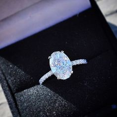 Stunning oval cut diamond engagement ring from Ice Rock Diamond Los Angeles Jeweler