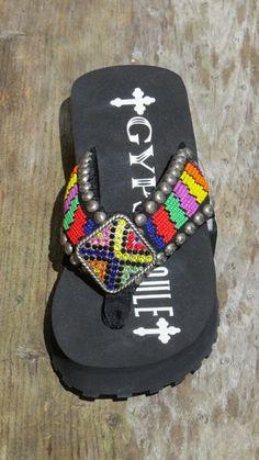 16706d09bc04 Gypsy Soule BWL Twisted Bead Flip Flop