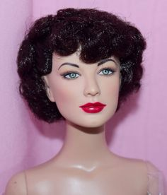 TONNER-16-AVA-GARDNER-HEARTS-ABLAZE-BW-NUDE-DOLL-WITH-STAND