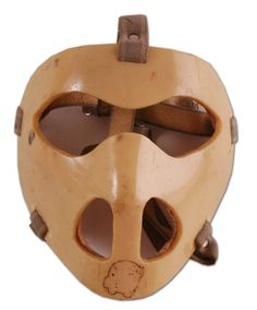 Early Vintage mask Goalie Mask, Hockey Goalie, Masked Man, Montreal Canadiens, Bicycle Helmet, Crafts To Make, Nhl, Masks, How To Memorize Things