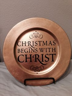 Christmas Charger with Vinyl Design by KatiesVinylKreations, $10.00