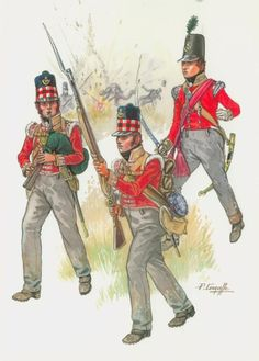 71st at Waterloo- Piper-Fusilier-Officer -