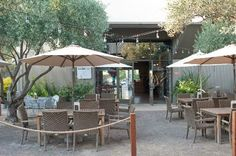 Park 121 Cafe, Grill, Market: Outdoor dining in front and rear where we ate after diRosa