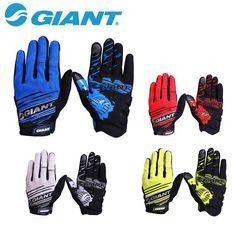 GIANT Windstopper Full Finger Men Women Cycling Gloves Screen Bike Bicycle Sports Shockproof Blue Red Sports Gloves Lycra #clothing,#shoes,#jewelry,#women,#men,#hats,#watches,#belts,#fashion,#style
