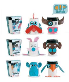 Roberson Museum and Science Center's Gift Shop has a great selection of learning toys to spark the imagination!  Makedo CUP CRITTERS.
