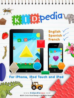 KIDpedia Shapes in English, Spanish + French by Circle Visual Design