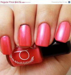New to ParloCosmetics on Etsy: SALE Girl Crush / Bright Raspberry Red Colored 5 Free Nail Polish Mini 5 ml (2.85 USD)