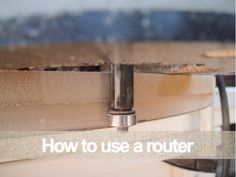 How to use a router for decorative edge cutting tutorial and video. Aren't you excited???? I am! I'm getting a bit creative in the editing department