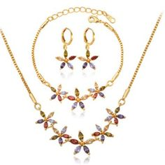 SHARE & Get it FREE | A Suit of Charming Faux Crystal Flower Shape Necklace Bracelet and Earrings For WomenFor Fashion Lovers only:80,000+ Items·FREE SHIPPING Join Dresslily: Get YOUR $50 NOW!