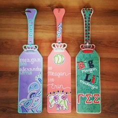 The three perfect paddles for the three perfect Disney Princess littles. Love…