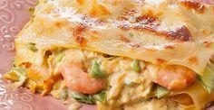 Faça essa deliciosa lasanha de camarão, muito fácil de fazer e vai ser um sucesso total na sua casa. Experimente! INGREDIENTES 250 g de massa para lasanha