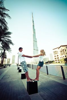 Dubai engagement shoot. Image: BlueCicada Photography.