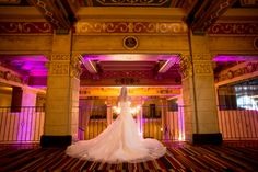Bride overlooks the historic lobby at Hollywood Roosevelt Hotel