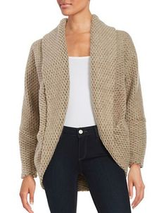 Bb Dakota Chunky Knit Sweater Women's Camel Medium