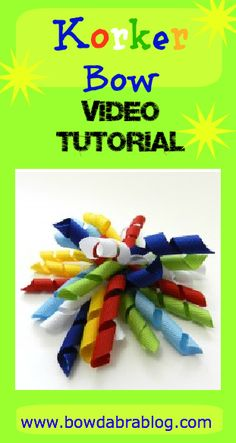 Video diy Tutorial Korker Bow for girls hair clips