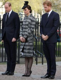 5 April 2017 William, Kate and Harry attend a Service of Hope at Westminster Abbey following the terror attacks which took place in Westminster on 22 March, 2017