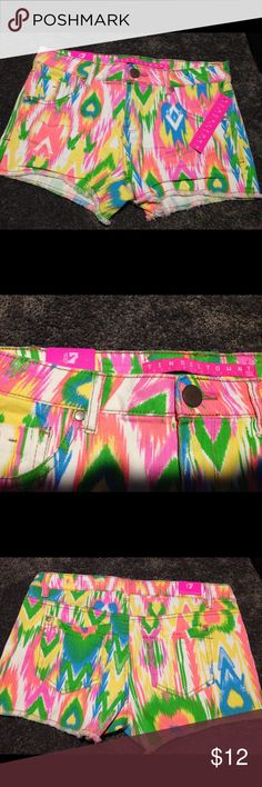 Tinseltown neon shorts. New with tags. Size 7 Tinseltown neon shorts. Size 7. Brand new. Bright colorful shorts. View other items and combine shipping. Tinseltown Shorts