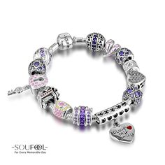 Soufeel Intellectual Freedom Charm Bracelet 925 Sterling Silver Compatible All Brands Basic Bracelet. For Every Memorable Day