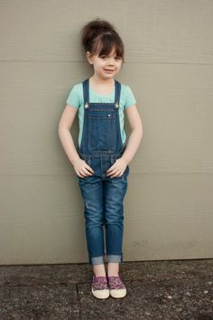 little girl fashion. overalls.