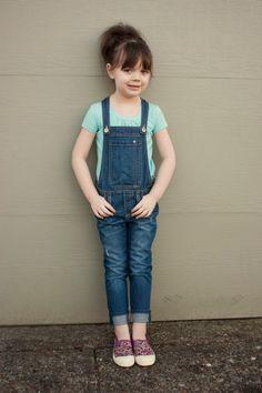 little girl fashion. overalls.