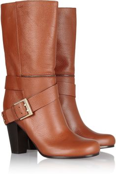 Chloé|Mid-calf leather boots I have a fascination with boots! $995