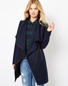 Oversized Zip Trim Coat