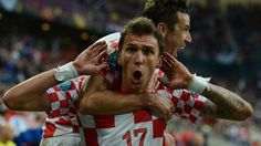 #supermanzo - A photographer gets a close-up of Mario Mandžukić's joy after his 72nd-minute strike