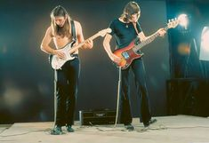 Pink Floyd: David Gilmour & Roger Waters in Paris, December recording the studio portions of Live at Pompei Great Bands, Cool Bands, Musica Punk, David Gilmour Pink Floyd, Pink Floyd Art, Rick E, Richard Wright, Psychedelic Music, Roger Waters