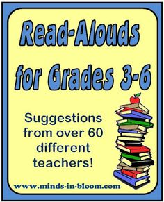 Books to Read Aloud for Grades 3-5...what can you read to delight and inspire your students? I asked this question on facebook and had over 80 responses! Here is a list of their suggestions (along with a few comments from me). To find out more, click on the book title to go to Amazon.