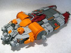 Here's another small freighter, kind of a mash-up of an A-wing with the Millinium Falcon meets Homeworld. Don't look at the bottom and it could pass for finished!