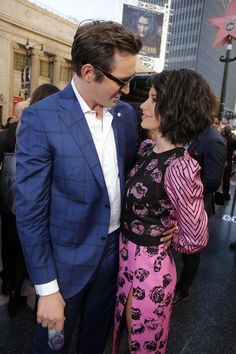 Lee Pace and Evangeline Lilly at the Hollywood Walk of Fame Star Ceremony for Peter Jackson on December 8th, 2014.