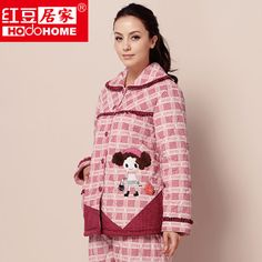 1f994723459 women s winter quilted coral fleece thickening pajama sets free shipping   67.00