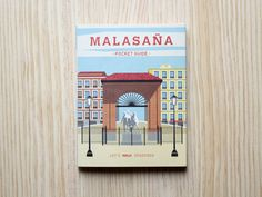 Me encanta este idea! What a great idea - a mini-walking guide of one my favorite neighborhoods in Book And Magazine, Madrid, The Neighbourhood, Spain, Walking, Concept, Graphic Design, Pocket, Illustration
