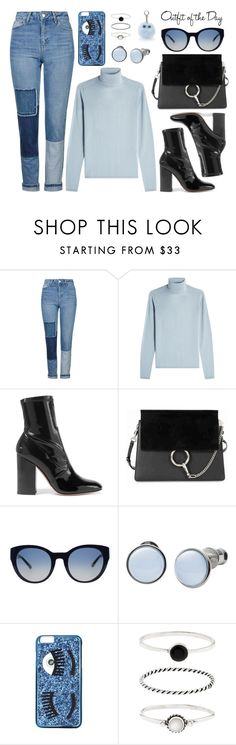 Outfit of the Day by dressedbyrose on Polyvore featuring IRIS VON ARNIM, Topshop, Valentino, Chloé, Skagen, Accessorize, Tory Burch, Chiara Ferragni, Under One Sky and Petit Bateau