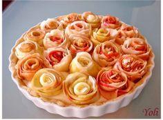 Torta decorada com rosas feitas de maçã - VilaMulher
