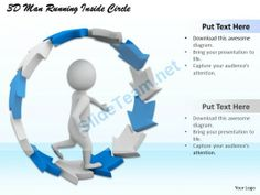 1113 3D Man Running Inside Circle Ppt Graphics Icons Powerpoint #Powerpoint #Templates #Infographics