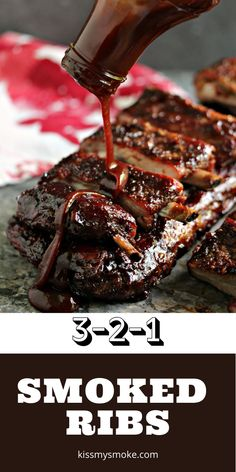 These smoked ribs are cooked to perfection using the 3, 2, 1 method. They are simple to make yet pack a serious flavour punch! #smoked #grill #ribs #spareribs #321ribs #dinner #meal #carnivore
