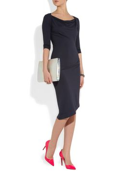 Vivienne Westwood - Dahlia ruched stretch-jersey dress {simple, fabulous, amazing lines}