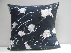 Shibori Throw Pillow cover Cotton 17 x 17 18 x 18 by AddisonMade