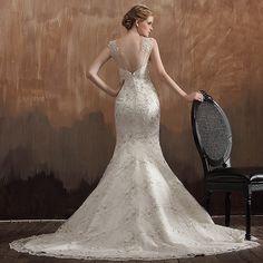 ゴージャスなマーメイドチャペルの列車レースのアップリケのウェディングドレス 10522685 - マーメイドウェディングドレス - Dresswe.Com