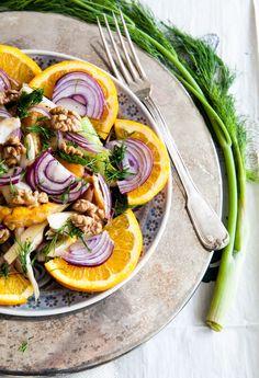 Fenchel-Salat mit Orangen und Walnüssen - foodtasticfoodtastic