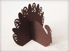 Alexis Mattox Design:  Image of Thanksgiving Turkey Place Cards-Simple Style