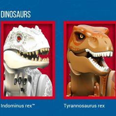 Jurassic World- Indominus Rex and T-Rex lego