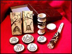 Altar set portable wicca pagan  pocket portable  by magicraftshop, 63$