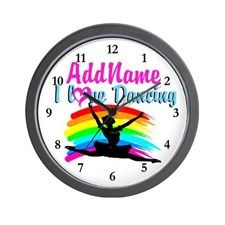 BALLET DANCER Wall Clock Beautiful personalized Dancer and Ballerina gifts for Birthdays, Holidays or any occasion.   http://www.cafepress.com/sportsstar/10423569 #Dancer #Dancergifts #Ballet #Ballerina  #Personalizeddancer