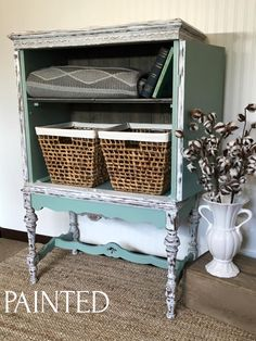Painted offers custom furniture refinishing services in Green Bay Wisconsin. Here is a collection of customer furniture that was hand painted.