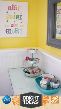 Girls bathroom organization, kids bathroom storage, girl bathroom i Girls Bathroom Organization, Kids Bathroom Storage, Bathroom Kids, Small Bathroom, Bathroom Canvas, White Bathroom, Girl Bathroom Ideas, Parisian Bathroom, Rental Bathroom
