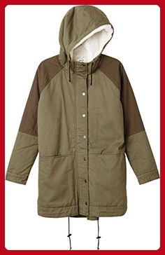 RVCA Juniors Midnight Sherpa Winter Parka, Dusty Olive, X-Small - All about women (*Amazon Partner-Link)